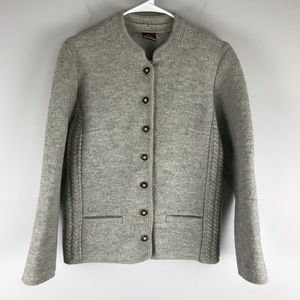 Giesswein Austrian boiled wool button jacket grey